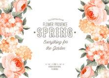 Carte florale élégante Photographie stock