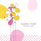 Carte florale Image stock
