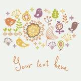 Carte florale Images libres de droits