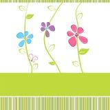Carte florale Photo libre de droits