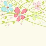 Carte florale avec l'espace de copie Photos stock