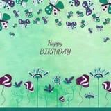 Carte florale d'enfants Image stock