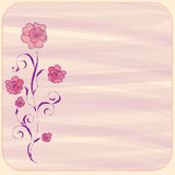 Carte florale d'invitation Photos stock