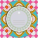 Carte florale d'invitation Photographie stock libre de droits