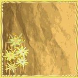 Carte florale d'invitation avec le fond grunge Image libre de droits