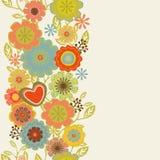 Carte florale de cru Photographie stock