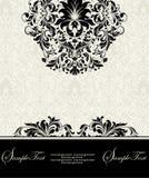 Carte florale de damassé Photographie stock