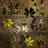 Carte florale de fond d'automne d'art illustration libre de droits