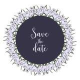 Carte florale Invitation de mariage Aspiration de main d'illustrati illustration de vecteur
