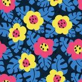 Carte florale tropicale Image stock