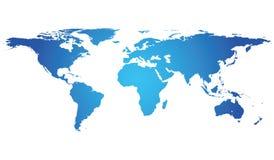 Carte fortement détaillée du monde avec Photographie stock