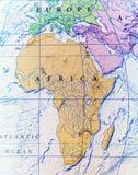 Carte géographique de fin de l'Afrique Photographie stock libre de droits