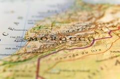 Carte géographique de pays du Maroc avec les villes importantes Photo libre de droits