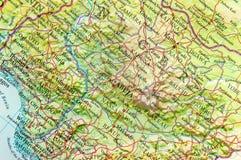 Carte géographique du Nigéria avec les villes importantes Photo stock