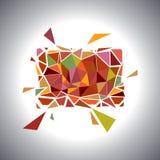 Carte géométrique polygonale Vecteur Images stock