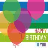 Carte gaie de joyeux anniversaire Photos stock
