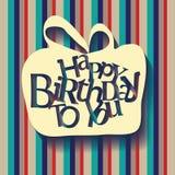 Carte gaie de typographie de joyeux anniversaire Photo libre de droits