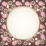Carte gentille de fleur Images stock
