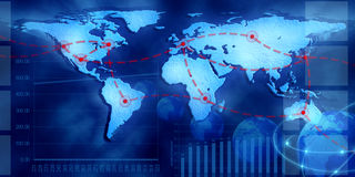Carte globale Photos libres de droits