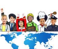 Carte globale Concservation environnemental Conce du monde de mondialisation Photographie stock libre de droits