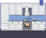 Carte graphique d'intérieur de cuisine Photographie stock libre de droits