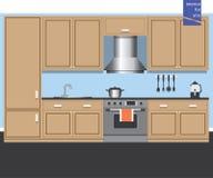 Carte graphique d'intérieur de cuisine Photos libres de droits