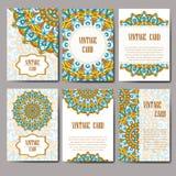 Carte graphique d'invitation avec le mandala Ornement décoratif pour le design de carte : épouser, bithday, partie, saluant Elem  Image stock