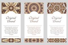 Carte graphique d'invitation avec le mandala Ornement décoratif pour le design de carte : épouser, bithday, partie, saluant Elem  Photos libres de droits