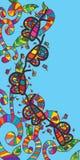 Carte gratuite de mouche de papillon Image stock