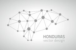Carte grise de triangle d'ensemble de point de vecteur du Honduras illustration stock
