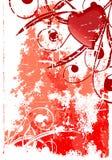 Carte grunge abstraite de valentine Images libres de droits