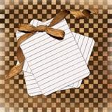 Carte grunge avec la proue de feuille et de brun illustration libre de droits
