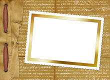 Carte grunge avec le cadre de papier pour la conception illustration de vecteur