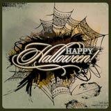 Carte grunge de conception de Halloween de vecteur abstrait Images stock