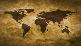 Carte grunge du monde Image stock