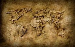 Carte grunge du monde Photo libre de droits