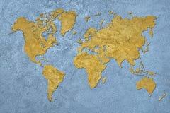 Carte grunge du monde Type de cru
