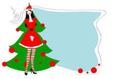 Carte gteeeting de Noël Image libre de droits