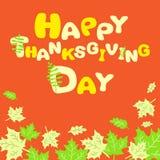 Carte heureuse d'abrégé sur thanksgiving Images libres de droits