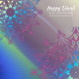 Carte heureuse d'invitation de Diwali Mandala de vecteur sur le beckground calorful Images stock