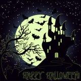 Carte heureuse d'invitation de Halloween, vecteur illustration de vecteur