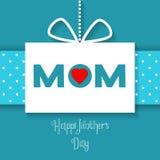Carte heureuse de célébration de jour de mères de vecteur Images stock