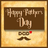 Carte heureuse de célébration de jour de pères de vecteur Photos stock