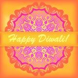 Carte heureuse de Diwali Festival des lumières indien Photographie stock
