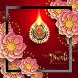 Carte heureuse de festival de Diwali Photo libre de droits