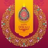Carte heureuse de festival de Diwali Images libres de droits