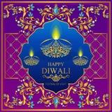 Carte heureuse de festival de Diwali Photographie stock libre de droits