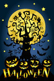 Carte heureuse de Halloween illustration de vecteur