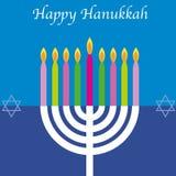 Carte heureuse de Hanukkah illustration libre de droits