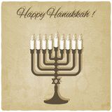 Carte heureuse de hanukkah Photos stock